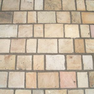 Fossil mint setts cobbles