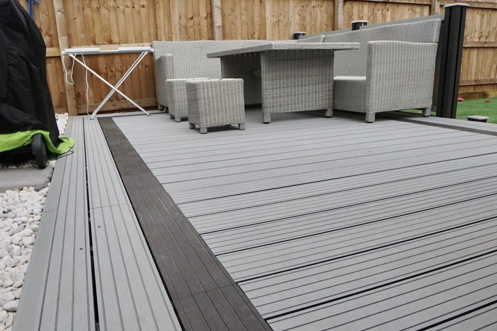 Grey Composite Decking And Fencing Paving Traders