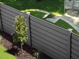Grey composite fencing